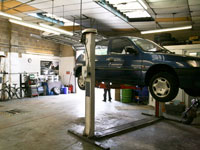 cars and light commercials servicing